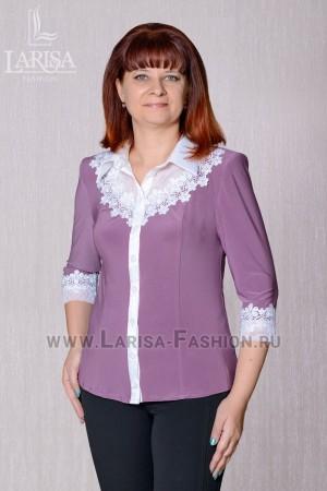 Блузка Кира однотонная