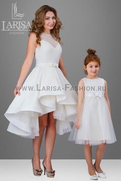 Family Look: платье Бэлла + Ясмин с сеткой