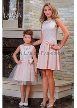 Family Look: платье  Крем-Брюле