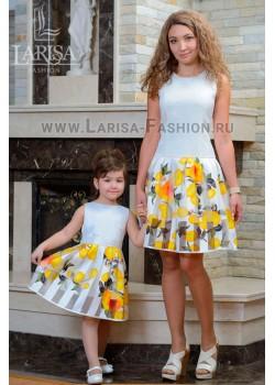 Family Look: платье Лепесток с заниженной талией