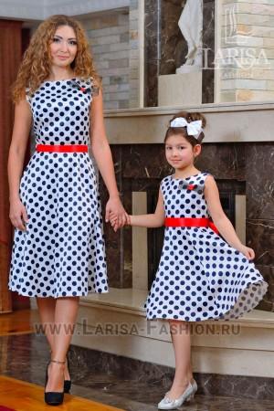 Family Look: платье Горошек