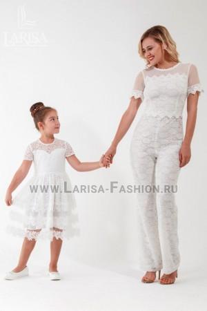 Family Look: комбинезон кружевной + платье Вивьен