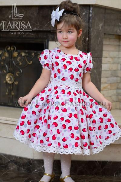 Детское платье Грибочки