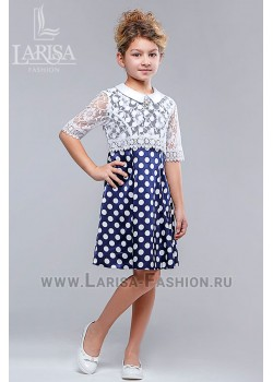 Детское платье Кокетка горошек