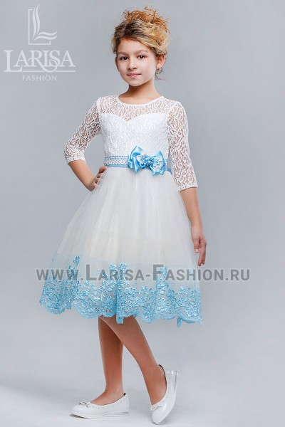 Детское платье Незабудка