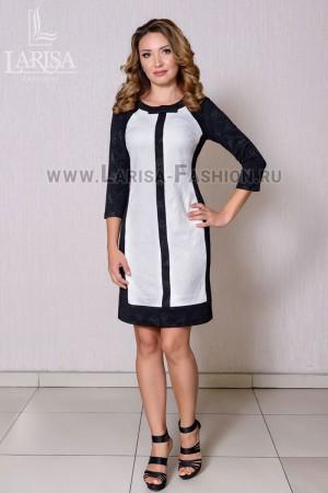 Молодежное платье День-ночь с рукавом