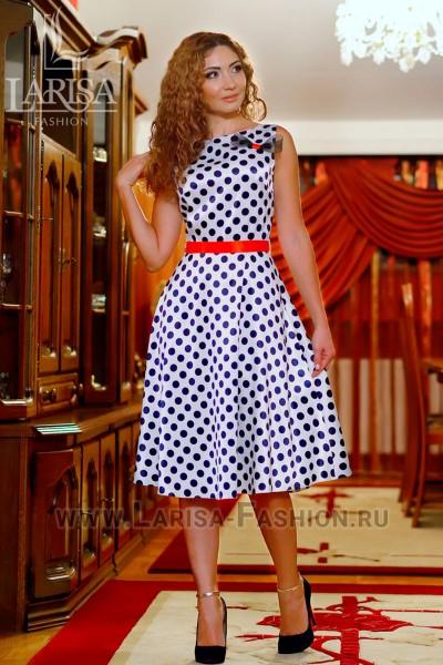 Молодежное платье Горошек