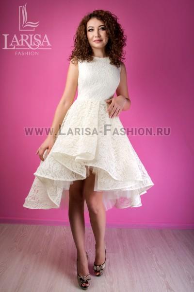 Молодежное платье Бэлла из гипюра