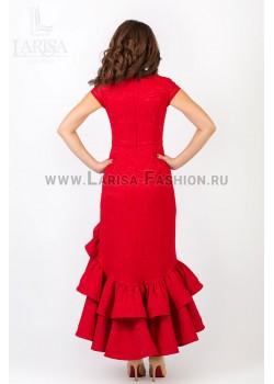 Молодежное платье Кармен из жаккарда