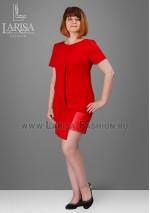 Платье Алена красного цвета