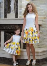 Family Look платье Лепесток с заниженной талией