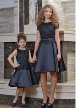 Family Look платье Дюймовочка черное