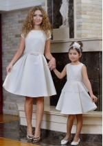 Family Look платье Дюймовочка молочное
