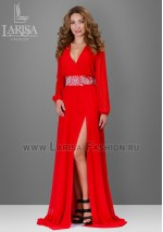 Молодежное платье Лейла красного цвета